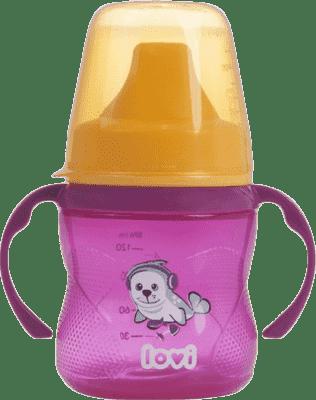 LOVI Hrníček nevylévací Hot&Cold 150 ml (6m+) - růžový