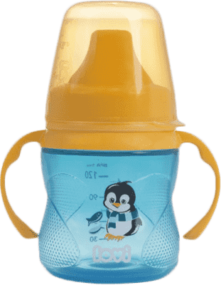 LOVI Kubek niekapek 150 ml (6m+) Hot&Cold – niebieski