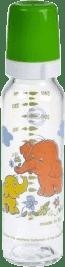 CANPOL Babies Láhev sklo s potiskem 250 ml- zelená