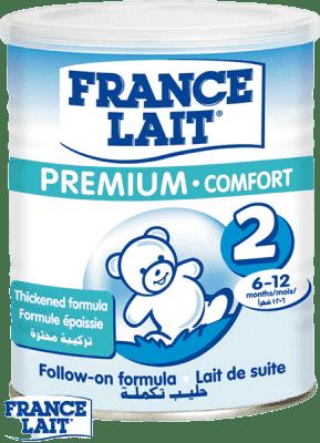 4x FRANCE LAIT Premium Comfort 2 (400g) - dojčenské mlieko