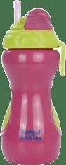 CANPOL Babies Láhev sportovní se skládací slámkou- růžová 320 ml