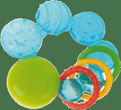 CANPOL Babies Chladící kousátko s kroužky- modrá