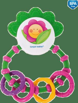 CANPOL BABIES Chrastítko s kousátkem Happy Garden – zelená