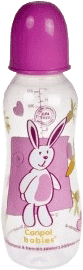 CANPOL BABIES Láhev s potiskem MAXI 330 ml 0% BPA- růžová