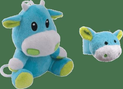CANPOL Babies Plyšová hrající skříňka + chrastítko na ruku kravička