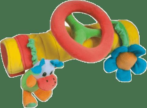 CANPOL Babies Plyšová hračka na madlo s volantem různé barvy