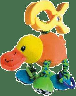 CANPOL Babies Plyšové chrastítko vibrační- kachna
