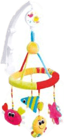 CANPOL Babies Kolotoč plyšový se skládacím ramenem oceán