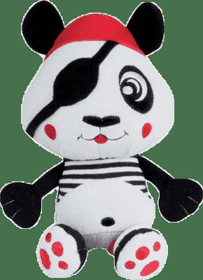 CANPOL Babies Plyšové chrastítko vibrační PIRÁTI- panda