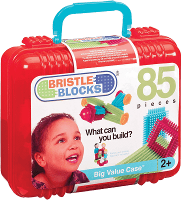 BRISTLE BLOCKS Zestaw klocków 85 elementów w kuferku