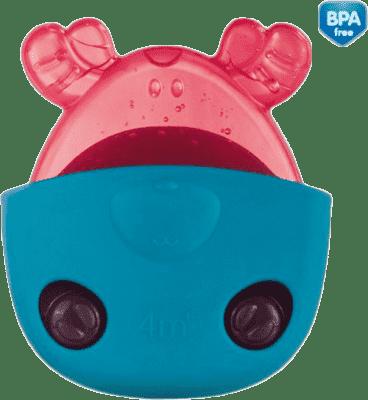 CANPOL Chladiace kousástko zvieratka vo vrecúškach - modrá kapsička