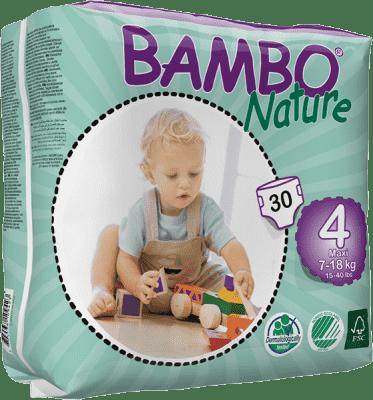 BAMBO Nature Maxi (7-18 kg) 30 ks - jednorázové pleny