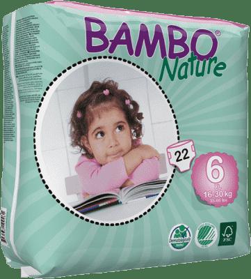 BAMBO Nature XL (16-30kg) 22ks - jednorázové pleny