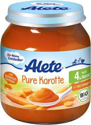 ALETE BIO Mrkva 125 g - zeleninový príkrm