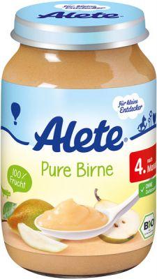 ALETE BIO Hruška 190 g - ovocný príkrm