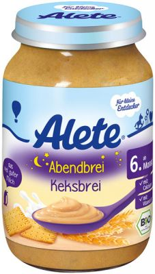 ALETE BIO Kaša večerná so sušienkami 190 g - mliečna kaša
