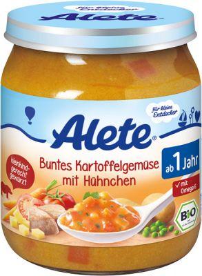 ALETE BIO Zelenina so zemiakmi a kuracím 250 g - mäsovo-zeleninový príkrm
