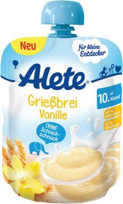 ALETE Kaša semolinová s vanilkovou príchuťou 85 g - mliečna kaša