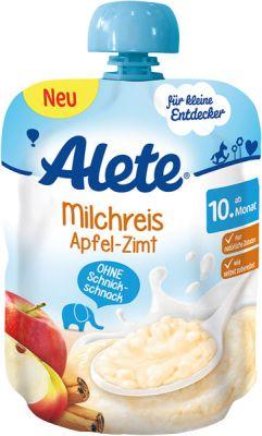 ALETE Mliečna ryža s jablkami a škoricou 85 g