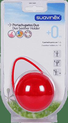 SUAVINEX Duo krabička na cumlíky - červená