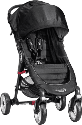 BABY JOGGER Wózek City Mini 4 koła - Black/Gray