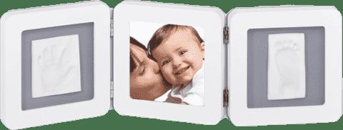 BABY ART Rámeček Double Print Frame White & Grey