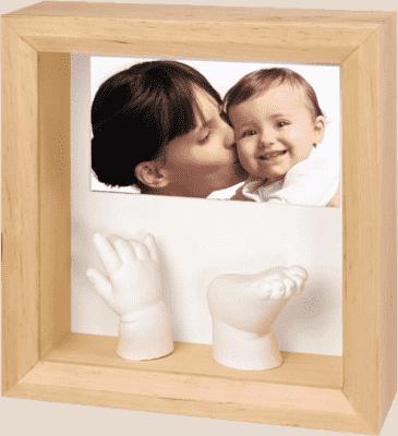 BABY ART Rámček pre 3D odtlačok Photo Sculpture Frame Natural