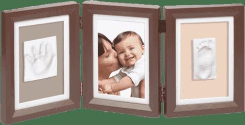 BABY ART Rámček Double Print Frame Brown & Taupe / Beige