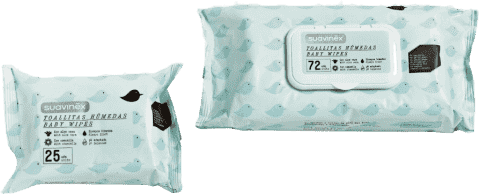 SUAVINEX Hygienické vlhčené ubrousky 75ks