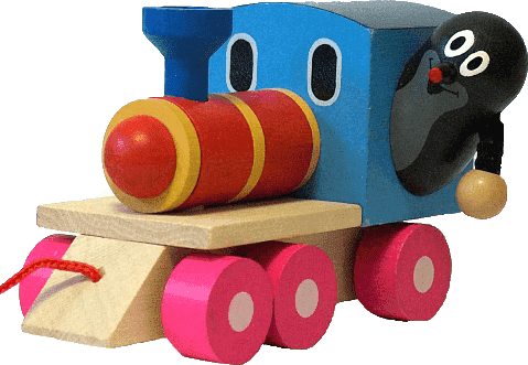 DETOA Krtko a mašinka / vlak - drevo