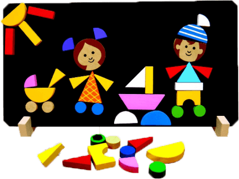 DETOA Magnetyczne puzzle Dzieci