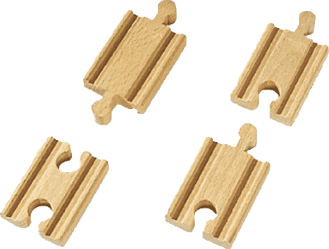 BRIO Mini koľaje rovné, spojky, 54 mm, 4 ks