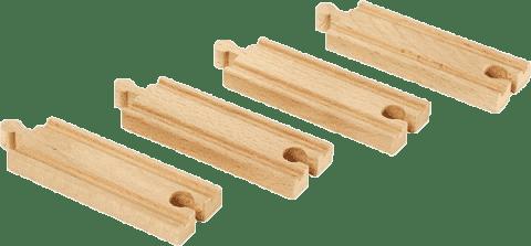 BRIO Krátké koleje rovné, 108 mm, 4 ks