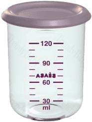 BEABA Pojemnik na jedzenie 120 ml, jasno fioletowy