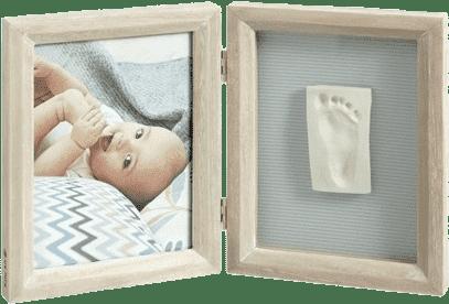 BABY ART Rámik na odtlačky nožičiek a fotografiu – white