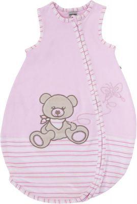 JACKY Spací vak Nos Bear, veľ. 74/80 - ružová, dievčatko