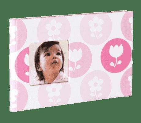 PEARHEAD fotoalbum dziecięcy na 24 zdjęcia, różowy