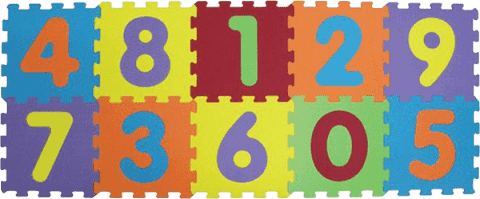 LUDI Puzzle pěnové 140x56 cm - čísla