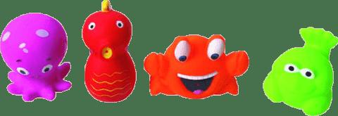 LUDI Hračky do vody morskej potvorky (4 ks)