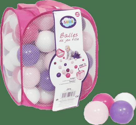 LUDI Loptičky ružové / fialové (75 ks)