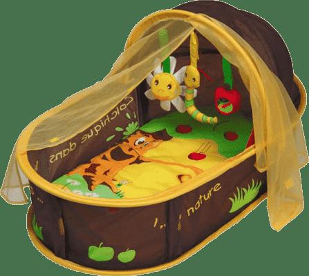 LUDI Cestovní postýlka pro miminko Nomad – hnědá