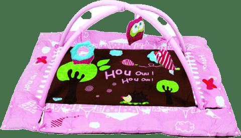 LUDI Hrací deka s mantinelem a hrazdou – Sova růžová