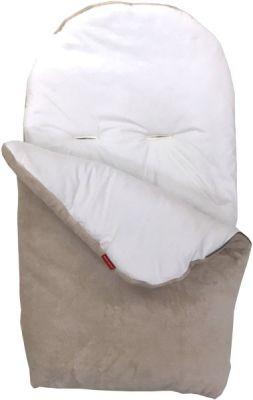 AESTHETIC Fusak novorodenecký 0-9m Mikroplyš - béžová/biela
