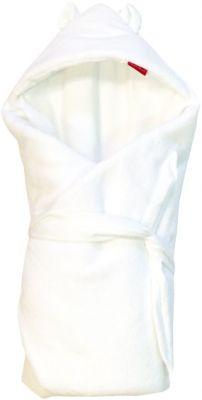 AESTHETIC Rýchlozavinovačka s kapucňou s uškami - biela/biela