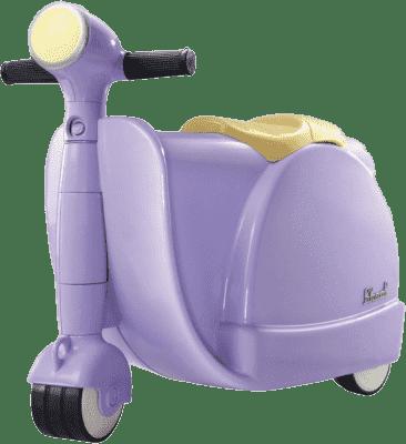 SKOOT Odrážedlo s kufříkem fialové