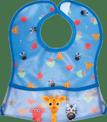 SASSY Podbradník s odopínacou vreckom modrý