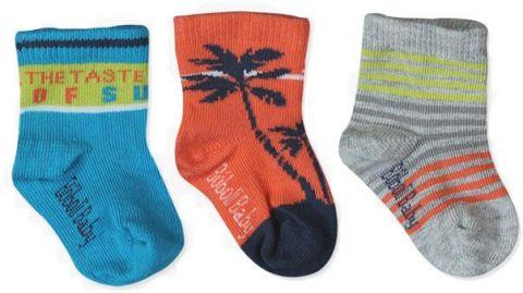 BOBOLI Ponožky 3 ks v balení, veľ. 25/27 - tyrkysová, chlapček