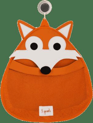 3 SPROUTS Kosz na zabawki i przybory kąpielowe Fox