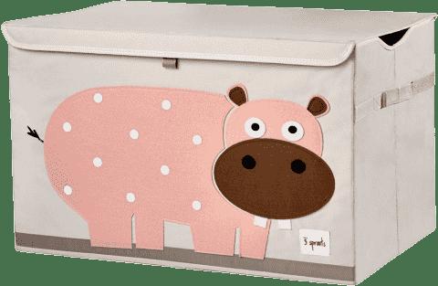 3 SPROUTS Zamykany kuferek na zabawki Hippo