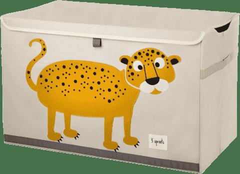 3 SPROUTS Zamykany kuferek na zabawki Leopard
